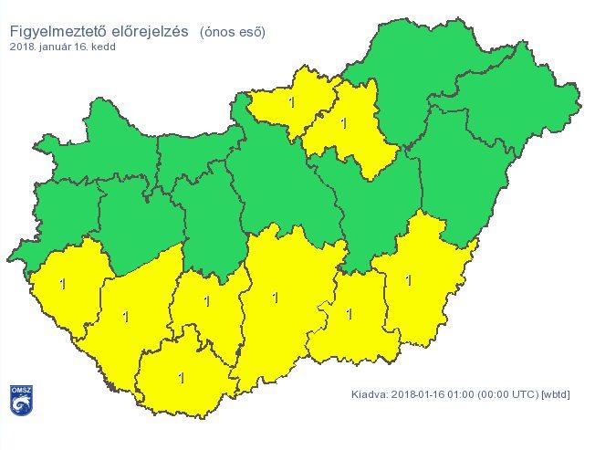 időjárás riasztási térkép Riasztás ónos eső miatt   itt a térkép!   .ma.hu időjárás riasztási térkép